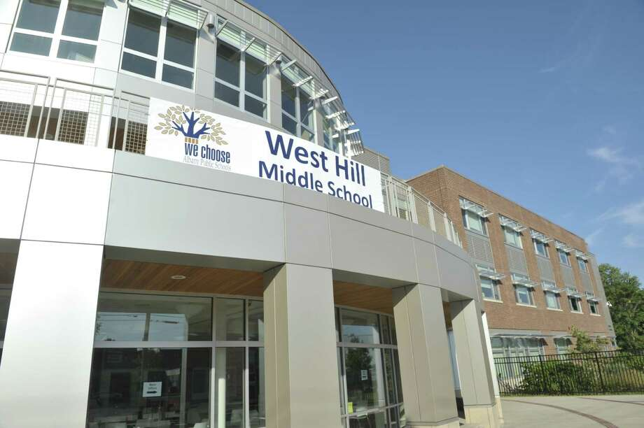 A view of the West Hill Middle School located at 395 Elk Street, seen here on Sunday, Sept. 6, 2015, in Albany, N.Y.  (Paul Buckowski / Times Union) Photo: PAUL BUCKOWSKI / 00033251A