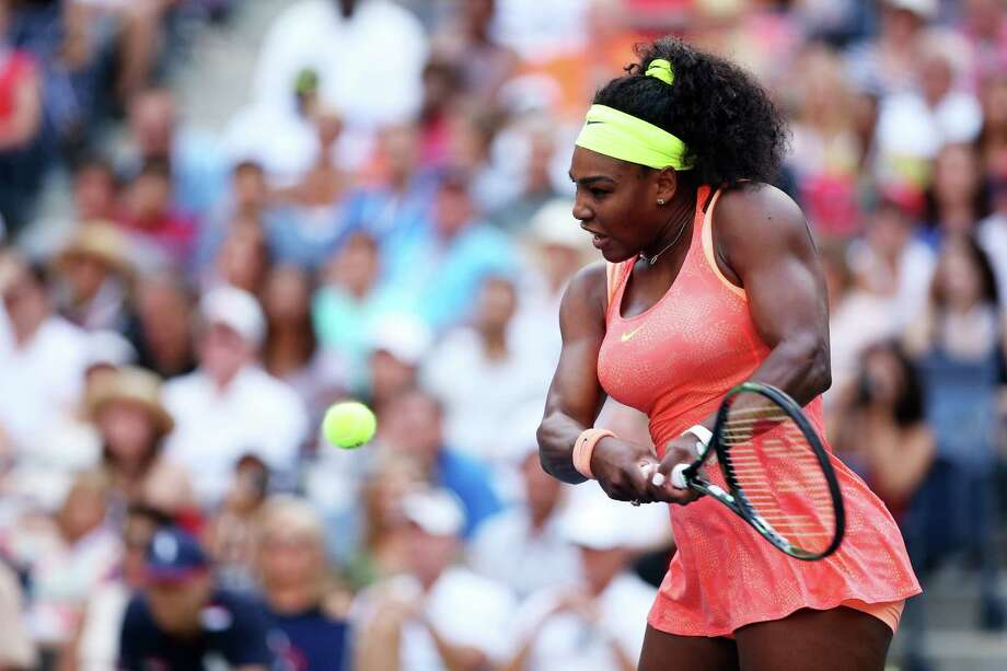 NEW YORK, NY - SEPTEMBER 06:  Serena Williams of the United States returns a shot to Madison Keys of the United States during their Women's Singles Fourth Round match on Day Seven of the 2015 US Open at the USTA Billie Jean King National Tennis Center on September 6, 2015 in the Flushing neighborhood of the Queens borough of New York City.  (Photo by Matthew Stockman/Getty Images) ORG XMIT: 571781581 Photo: Matthew Stockman / 2015 Getty Images
