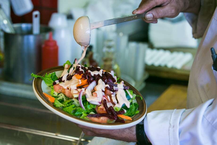 Salad with blue cheese dressing Photo: Jen Fedrizzi, Special To The Chronicle
