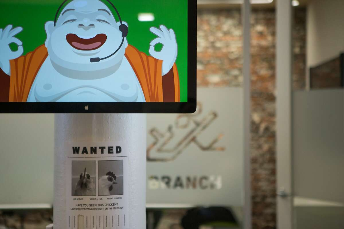 Exposed brick is contrasted with hi-tech equipment at the offices of Zendesk on Market Street on Tuesday, Sept. 1, 2015 in San Francisco, Calif.