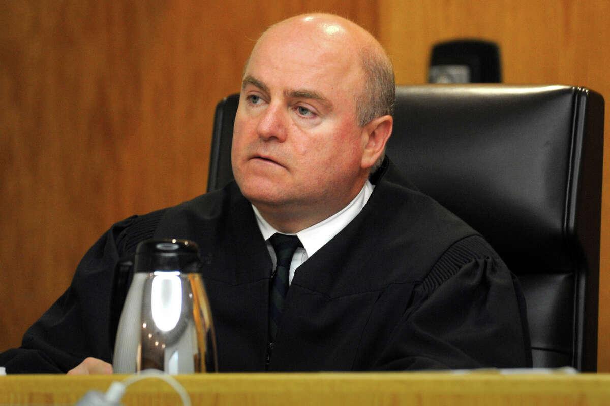 Judge John Blawie, sitting here on a murder trial in Bridgeport in 2013.