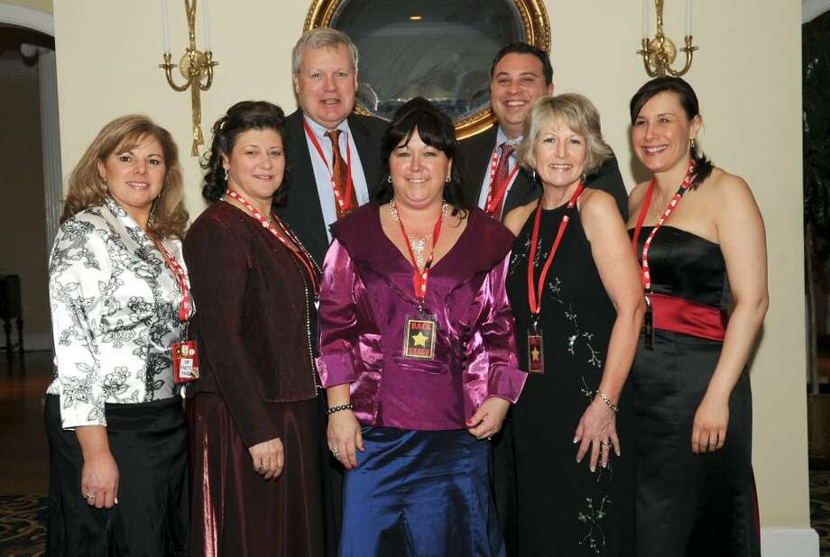 The Brookfield Chamber of Commerce Gala committee, left to right, Michele Varno, Linda Wagner, Kevin McCafferey, Rebecca Lollie, James Philipakos, Susan Halman and Lori Zezza. Photo: Carol Kaliff / The News-Times