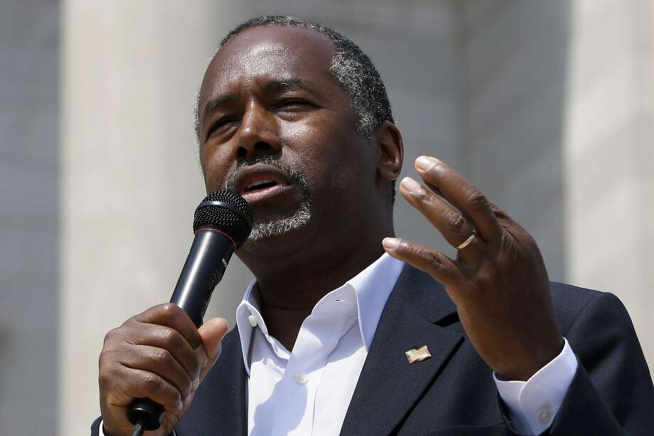 Republican presidential candidate Ben Carson speaks in Little Rock, Ark., in August. Photo: Danny Johnston, Associated Press