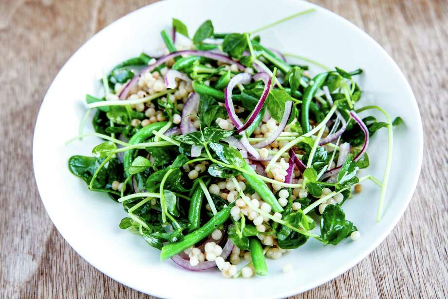Recipe for this Green Bean & Pearl Couscous Salad and more, Page E5. Photo: Sarah Rice / ONLINE_YES