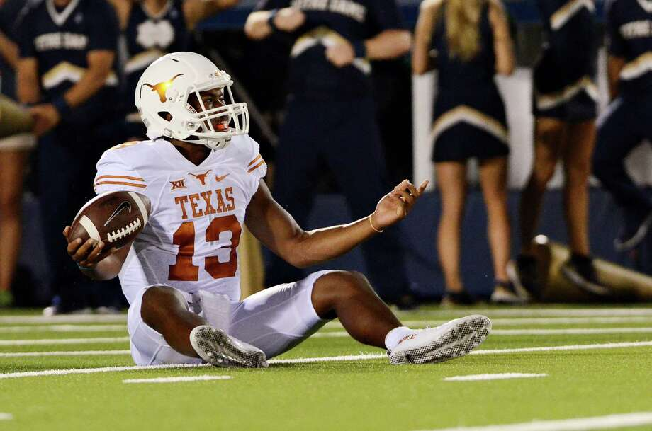 Texas and quarterback Jerrod Heard will try to put last week's nightmare vs. Notre Dame in the rear-view mirror as the Longhorns host Rice on Saturday. Photo: Amy Zhang /Associated Press / The Daily Texan