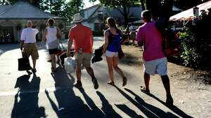 Racing fans make their way home after the final day of the season on Tuesday, Sept. 7, 2015, at Saratoga Race Course in Saratoga Springs, N.Y. (Cindy Schultz / Times Union)