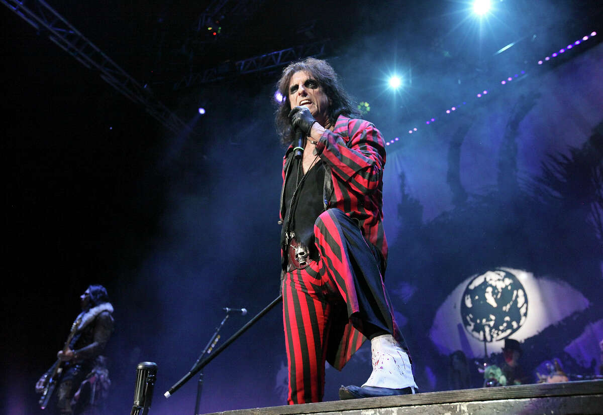 Alice Cooper performs Sunday May 7, 2017 at the Wagner Noel.