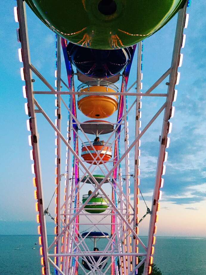 "Marcella Kovac's ""The Seasides"" project features photos taken every day for one year at Seaside Park in Bridgeport. Above is a Ferris wheel. Photo: Contributed Photo"
