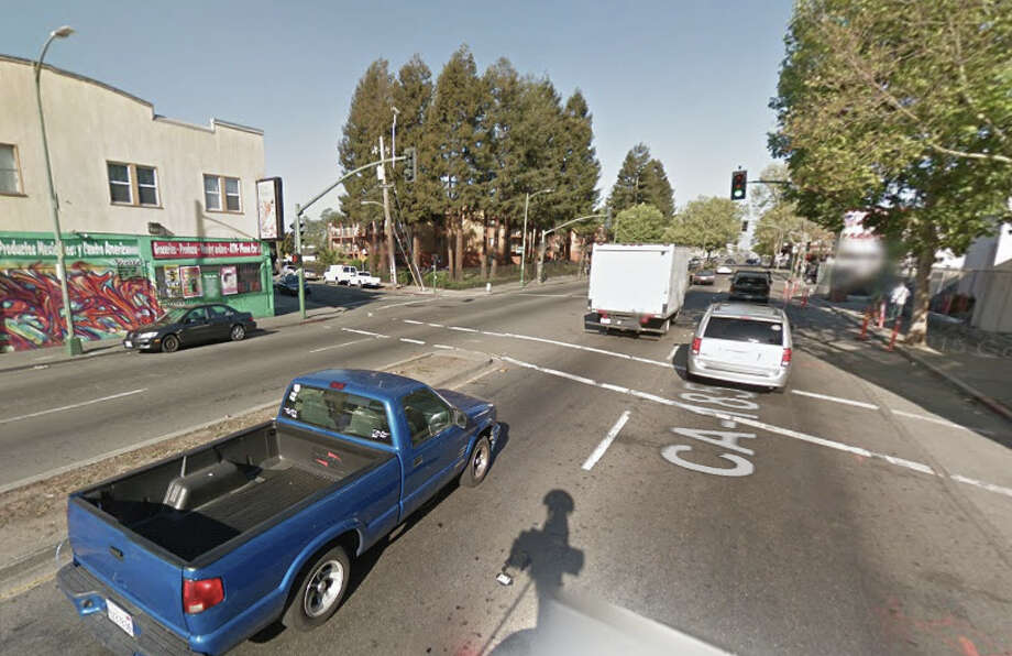 A man was shot on the 8200 block of International Blvd. in Oakland early Tuesday morning.  He later died. Photo: Google Maps