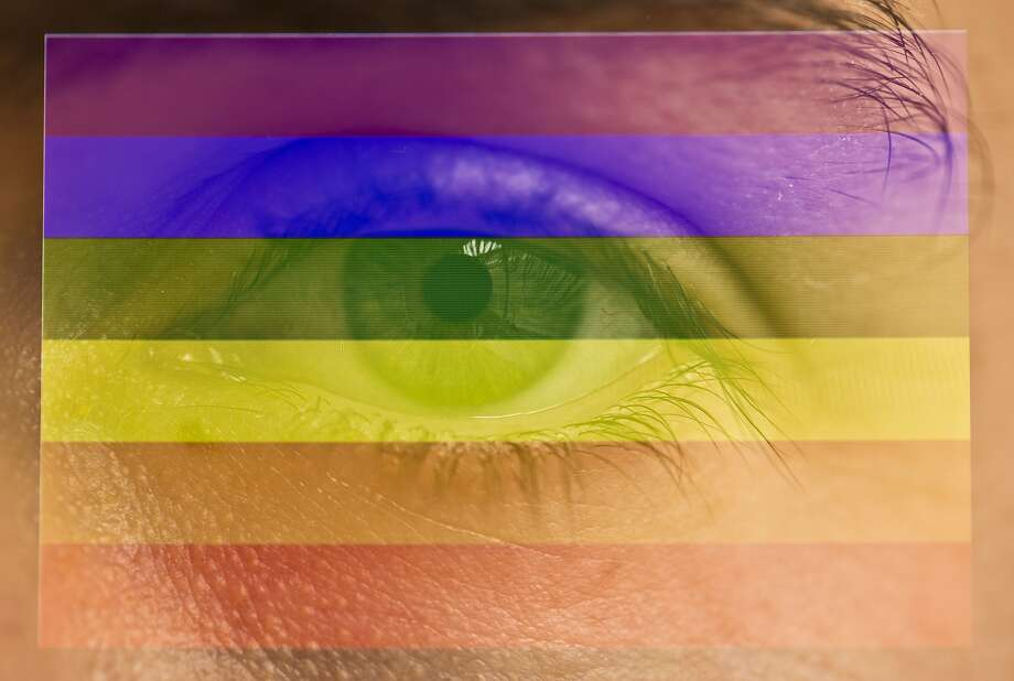 A 2008 study by Tufts professor Nicholas Rule (whose eye is shown here) that validated gaydar is being called into question by a new paper by University of Wisconsin-Madison scientists. Photo: Lucas Oleniuk, Lucas Oleniuk/ Getty Images
