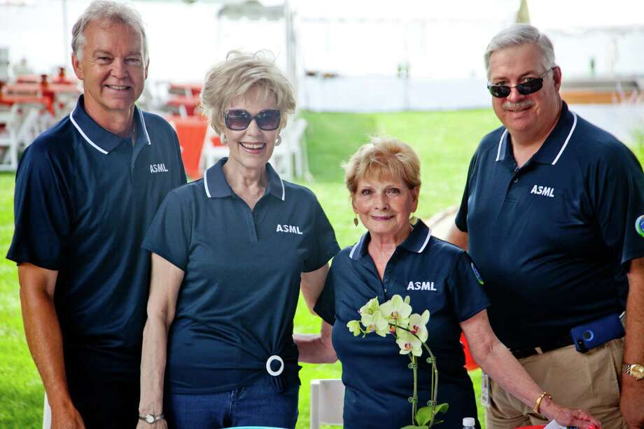 Dave Deboer, Maureen Cantalupo, Joan Geragosian and Jim West at the ASML 30th anniversary celebration event in Wilton last summer. Photo: Contributed Photo / Stamford Advocate  contributed