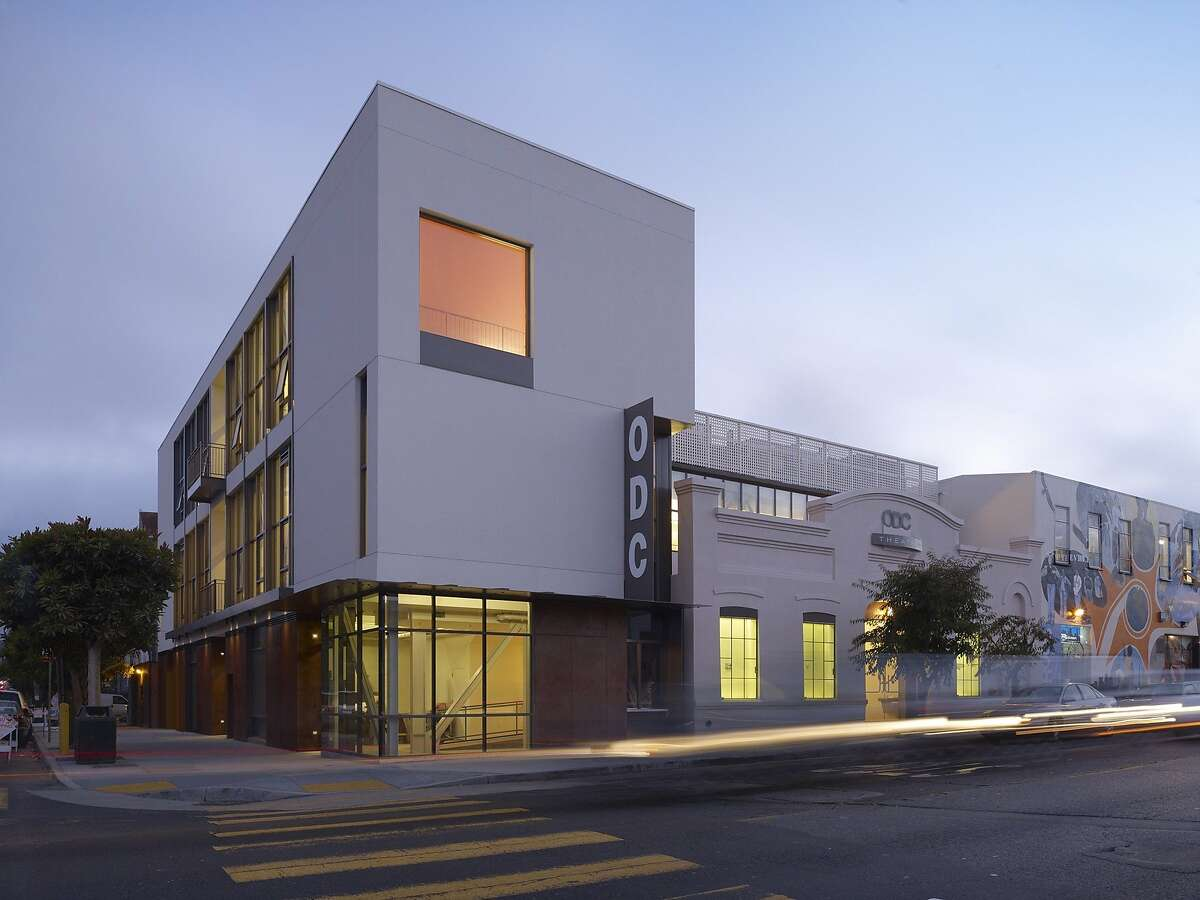 The ODC Theater at 17th and Shotwell streets includes a restored modern dance performance space along with a new building in a varied stretch of the northeast Mission District. The architect is Mark Cavagnero Associates.