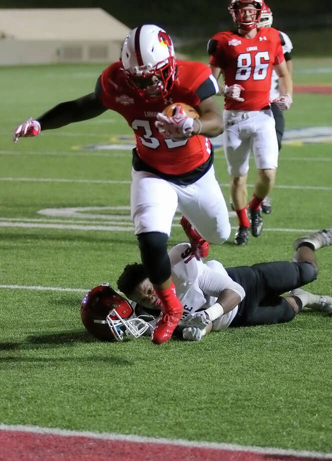 Lamar Football 2015 Season Results: Click through to see how Lamar fared in 2015.Emmanuel Atoyebi, 33, scores the final touchdown of the night during the game between the Lamar Cardinals and Bacone College at Provost Umphrey Stadium Saturday night, September 5th, 2015 - photo provided by Kyle Ezell
