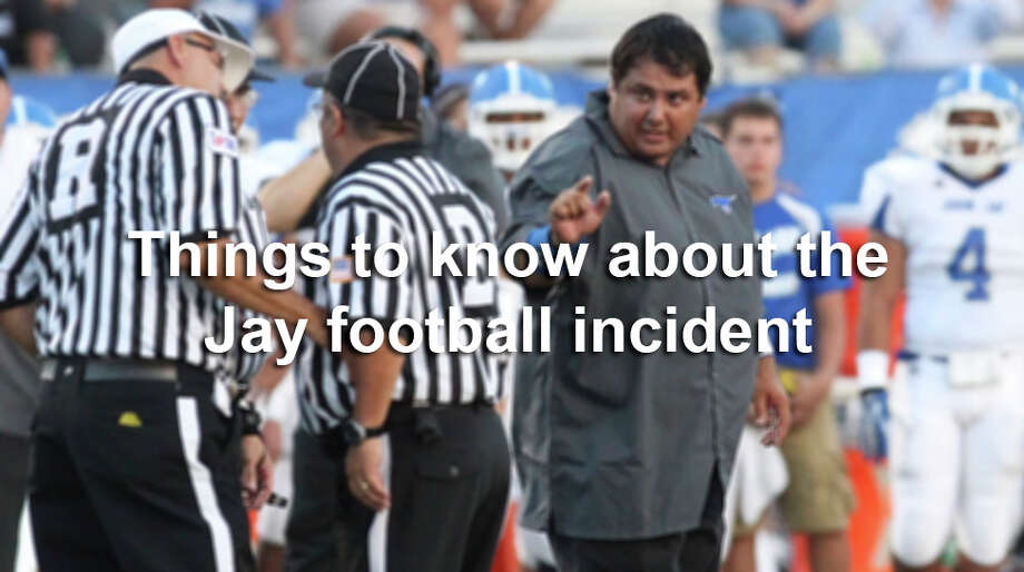 There are still a lot of questions about what happened to make two Jay Mustang football players target an official, but this is what we know so far. Photo: Kin Man Hui, San Antonio Express-News / ©2013 San Antonio Express-News