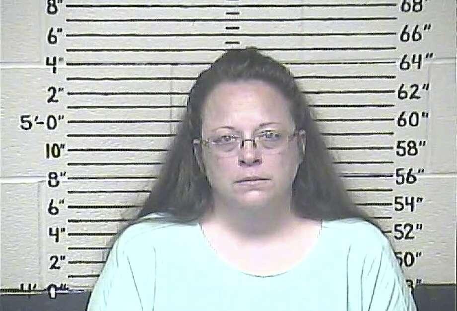 Kim Davis fue encarcelada el 3 de septiembre por orden de un juez federal. Photo: Centro De Detención Del Condado De  Carter, New York Times