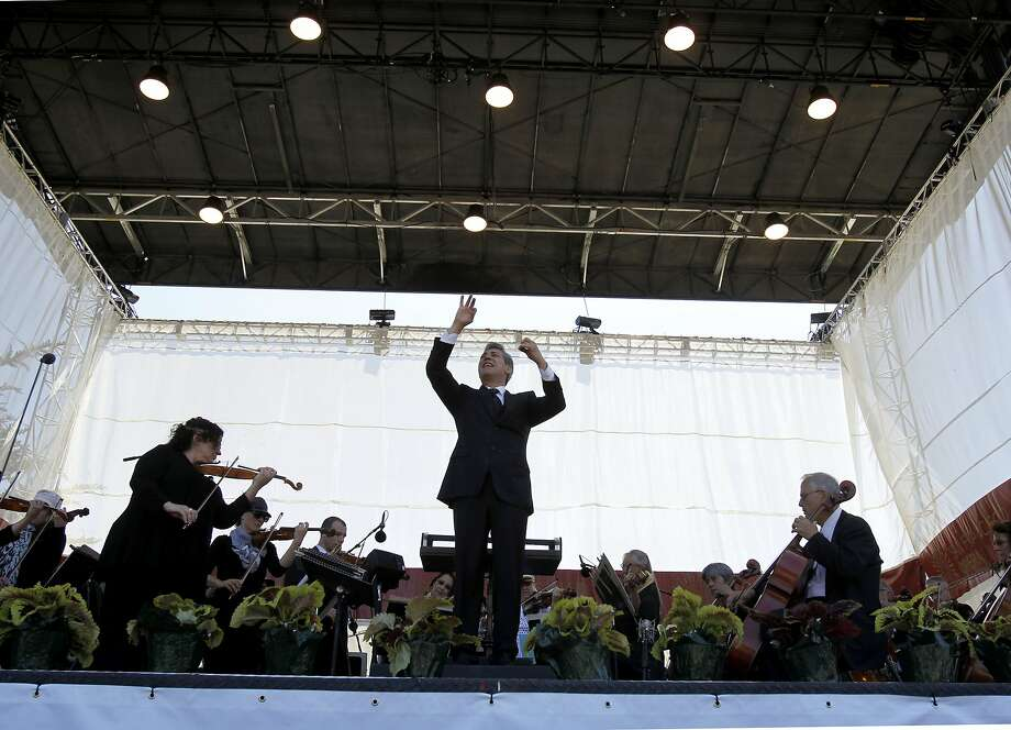 Nicola Luisotti conducts at Opera in the Park in 2014. Photo: Brant Ward, The Chronicle