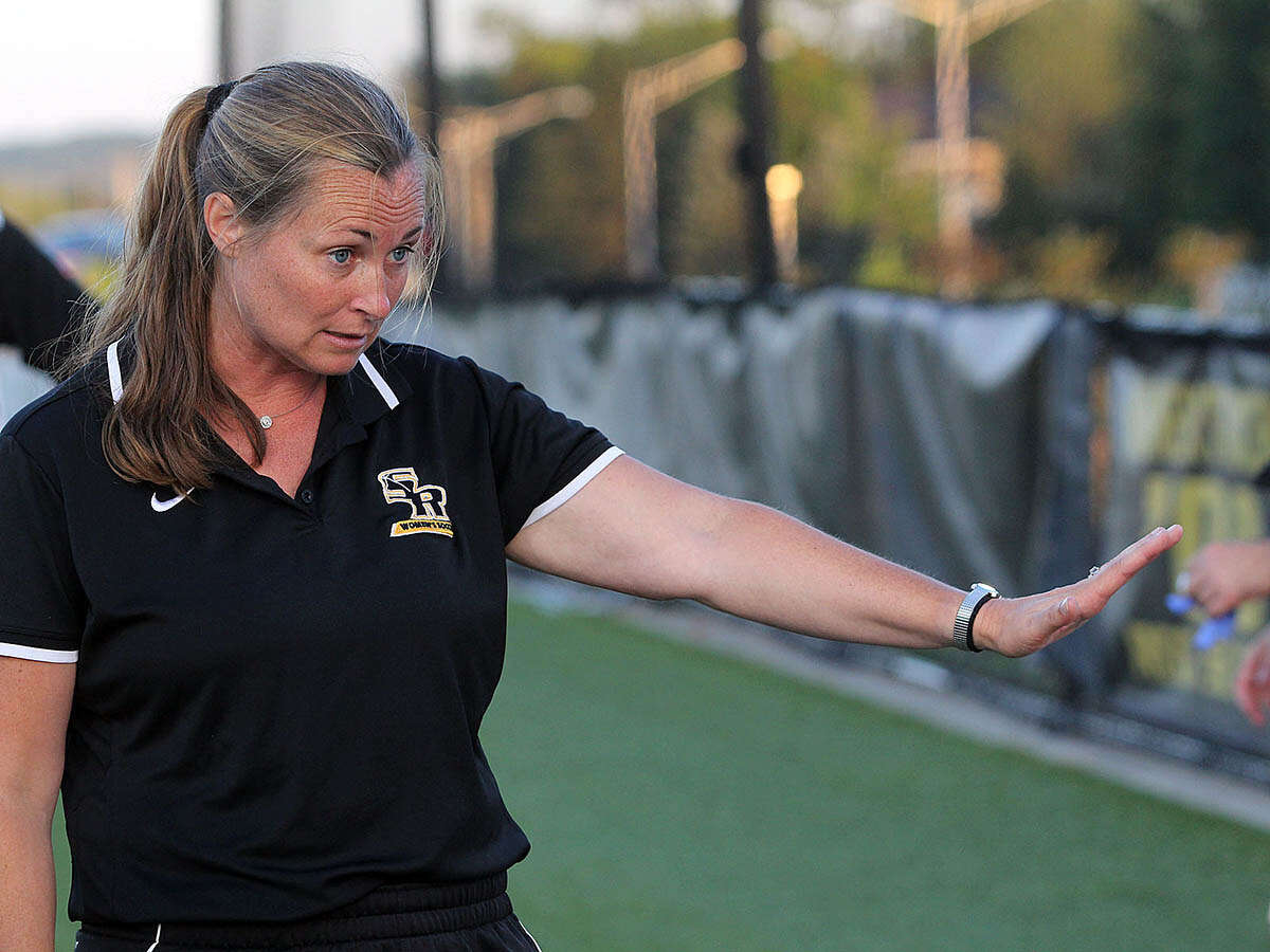 Saint Rose women's soccer coach Laura Guthiel. (Saint Rose sports information)