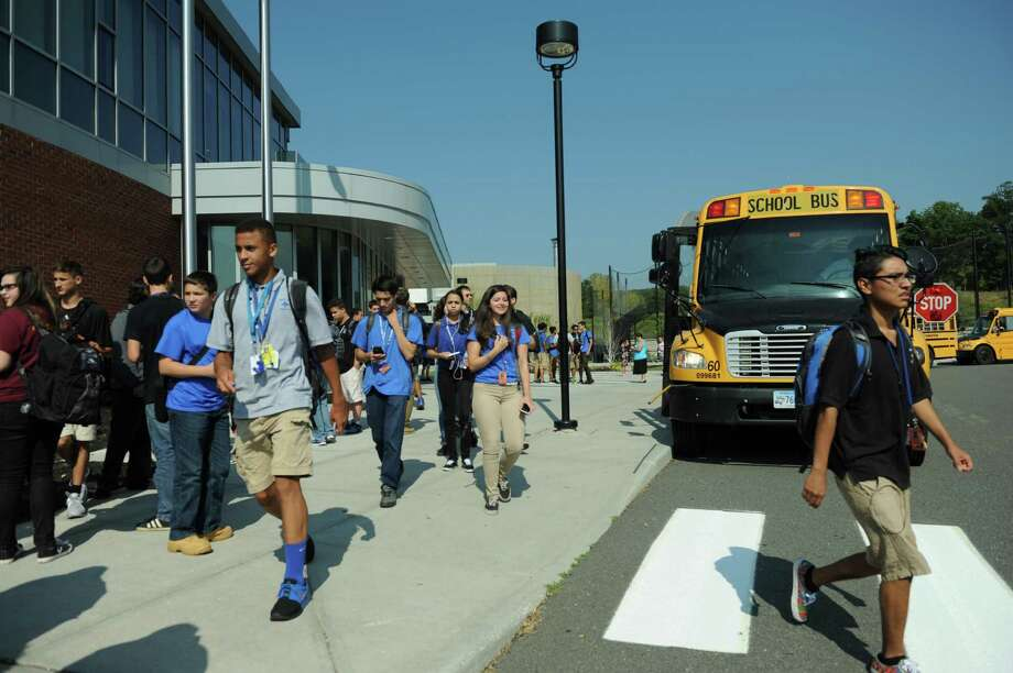 Schools in Danbury, including Abbott Technical High School, above, were dismissed early Tuesday, Sept. 8, 2015, due to the heat. Photo: Carol Kaliff / Hearst Connecticut Media / The News-Times
