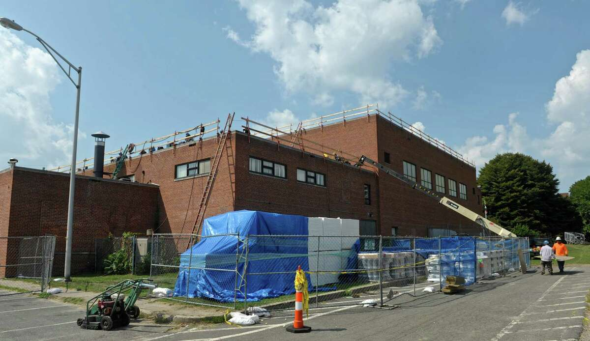 Grant money is being used to replace the roof on the Danbury War Memorial.