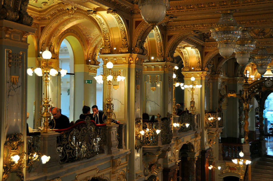 Luxurious 19th-century coffeehouses are on the rebound in Budapest, Hungary. Photo: Cameron Hewitt / Rick Steves' Europe