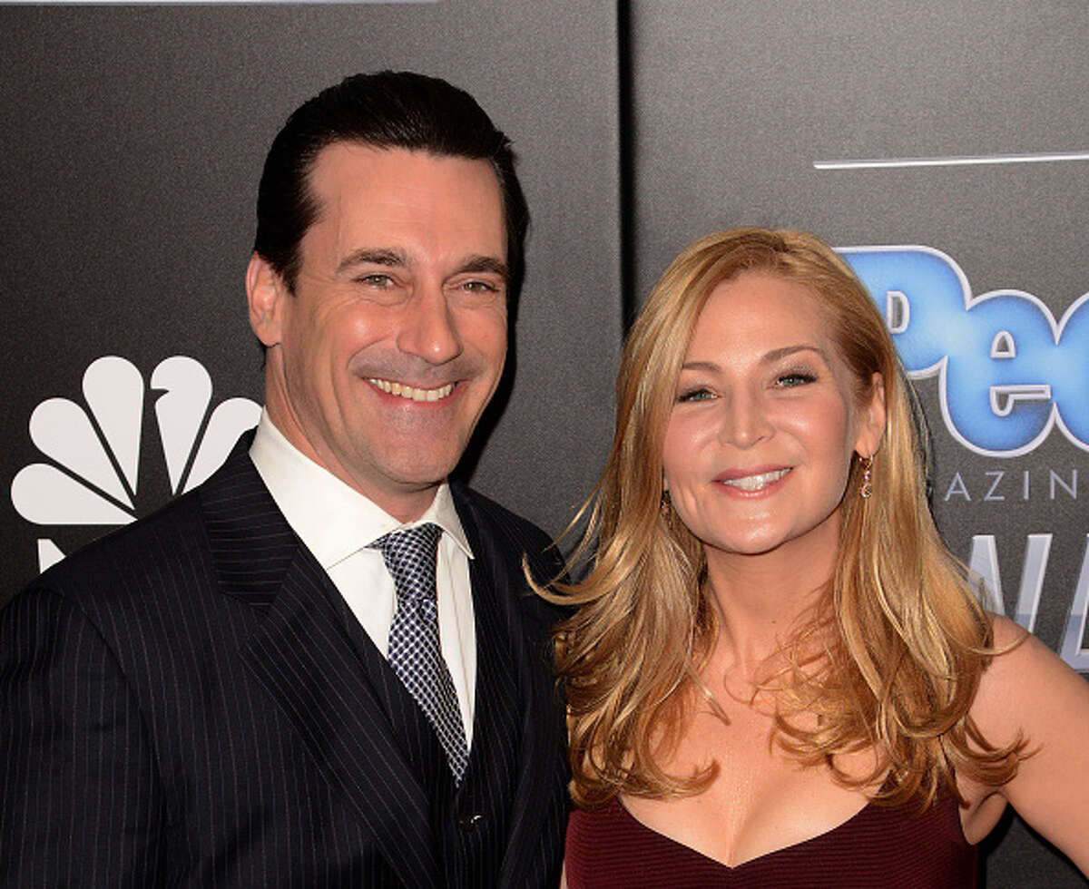Actors Jon Hamm and Jennifer Westfeldt split in September 2015 after an 18-year relationship. (Photo by C Flanigan/Getty Images)