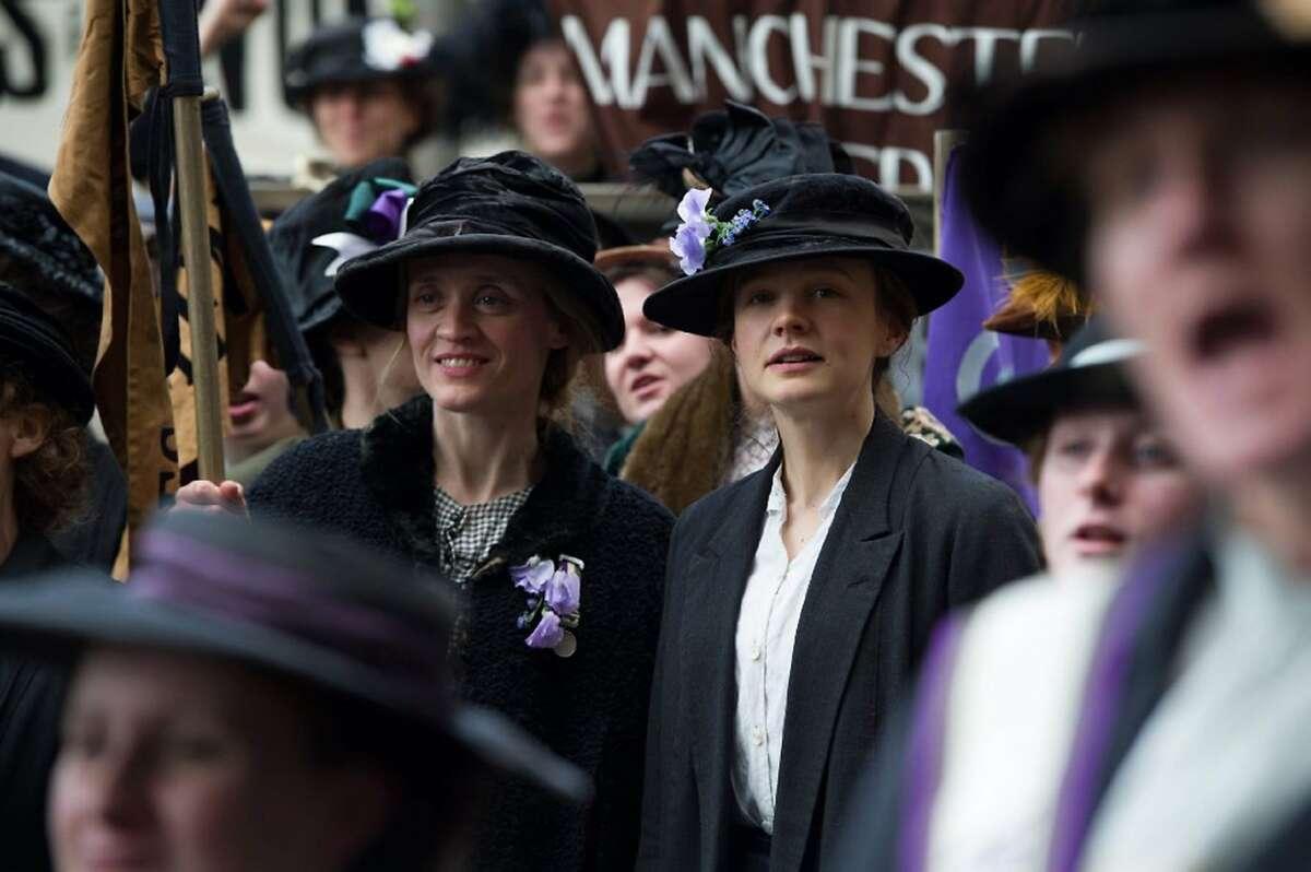 "Carey Mulligan, right, in ""Suffragette."" (Photo courtesy Focus Features/TNS)"