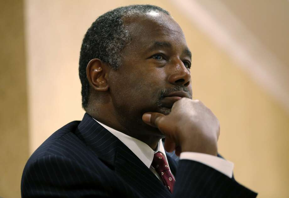 Republican presidential candidate Dr. Ben Carson at the Mark Hopkins Hotel in San Francisco, California, on Tuesday, Sept. 8, 2015. Photo: Connor Radnovich, The Chronicle