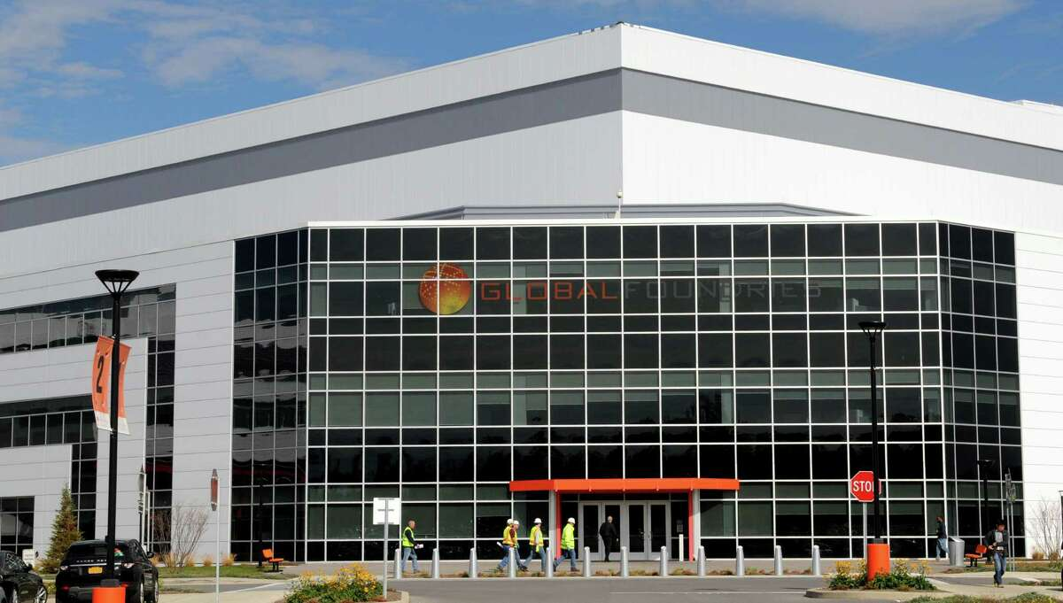 Exterior of GlobalFoundries computer chip factory Monday afternoon, Oct. 20, 2014, at Luther Forest Technology Campus in Malta, N.Y. (Will Waldron/Times Union)