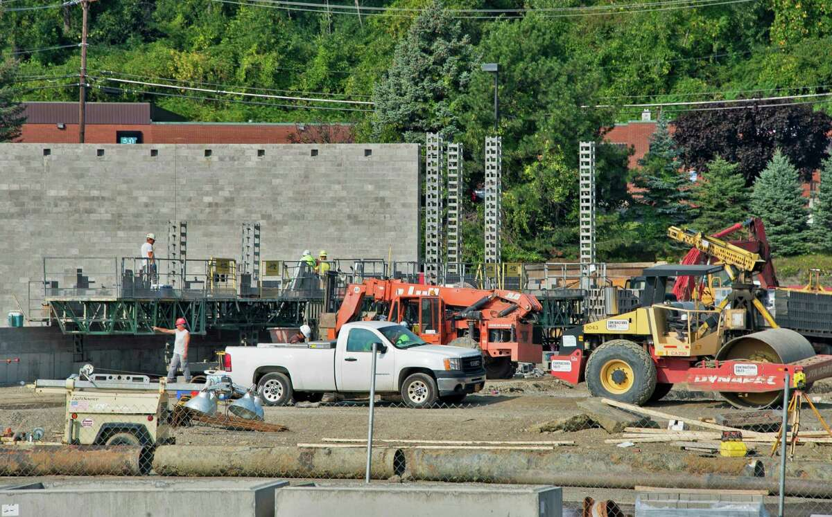 Work is under way on Burlington Coat Factory at Shoppes at Latham Tuesday Sept. 8, 2015 in Colonie, NY. (John Carl D'Annibale / Times Union)
