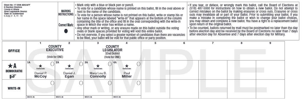 Guilderland Conservative and Democrats on primary ballot - Times Union