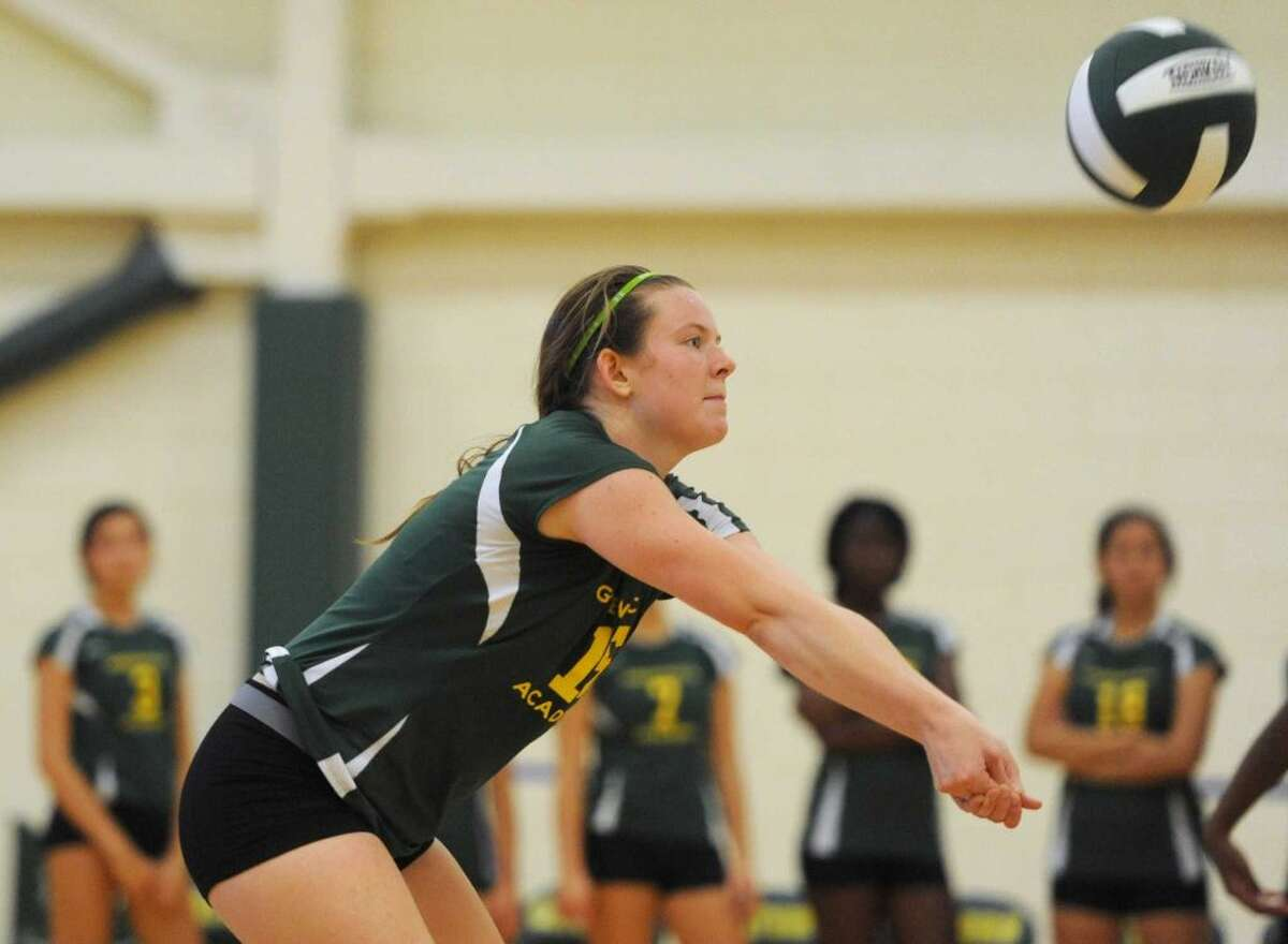 Phoebe Morris is a senior co-captain on the Greenwich Academy volleyball team.