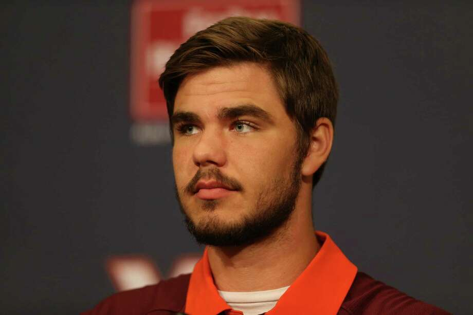 Virginia Tech NCAA college football quarterback Michael Brewer is shown during a press conference about the teams game against Ohio State on Monday, Sept. 7, in Blacksburg Va., Monday Aug. 31, 2015.  (Matt Gentry/The Roanoke Times via AP) LOCAL TELEVISION OUT; SALEM TIMES REGISTER OUT; FINCASTLE HERALD OUT;  CHRISTIANBURG NEWS MESSENGER OUT; RADFORD NEWS JOURNAL OUT; ROANOKE STAR SENTINEL OUT; MANDATORY CREDIT Photo: MATT GENTRY | The Roanoke Times, MBI / The roanoke Times