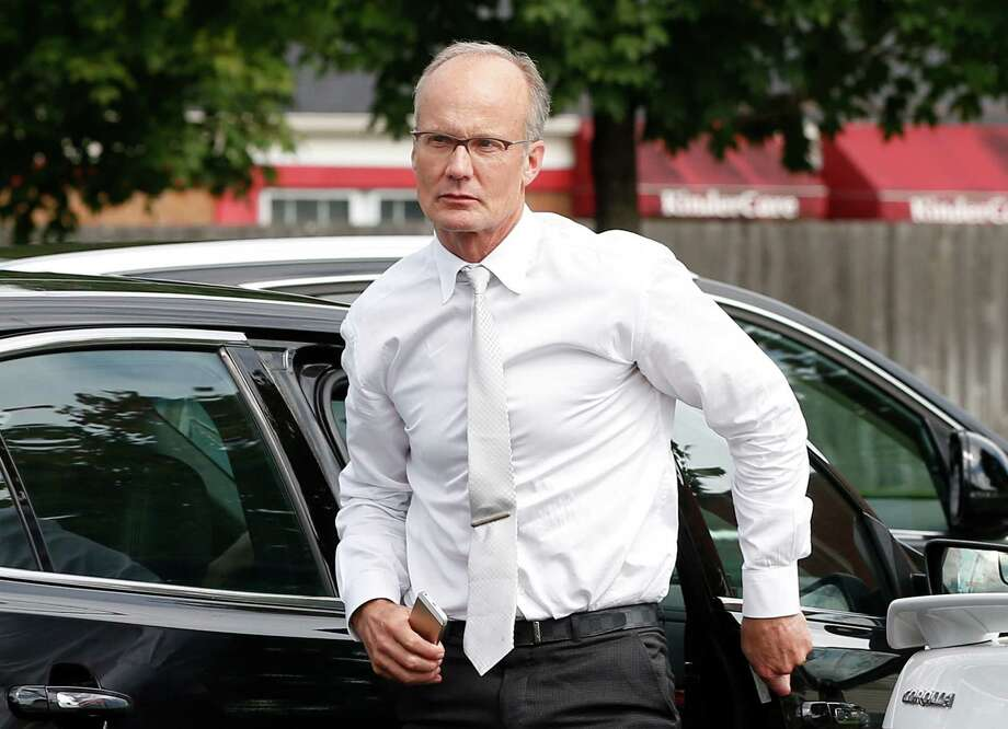 Dentist Walter Palmer, who returned to his practice, Tuesday, Sept. 8, 2015, in Bloomington, Minn., arrives back to his office following a lunch break. Palmer, after weeks out of the public eye, was the subject of an international uproar after he was identified as the hunter who killed the famous lion Cecil, in Zimbabwe. (AP Photo/Jim Mone) Photo: Jim Mone, STF / AP
