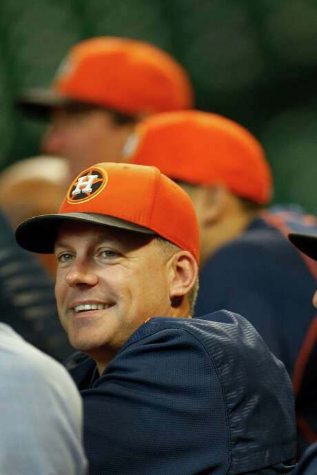 A.J. Hinch is thriving in his second stint as a major league manager after struggling with the Diamondbacks. Photo: Karen Warren, Staff / © 2015 Houston Chronicle