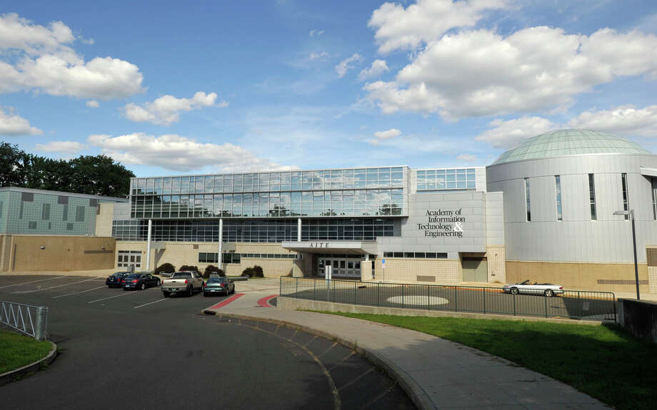 The Academy of Information Technology & Engineering located in Stamford. Photo: Jason Rearick / Jason Rearick / Stamford Advocate