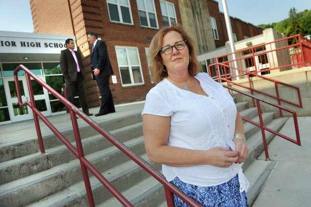 Karen Magee, president of New York State United Teachers on Tuesday, Sept. 8, 2015, at Watervliet Sr-Jr. High School in Watervliet, N.Y. (Cindy Schultz / Times Union) Photo: Cindy Schultz / 00033130A
