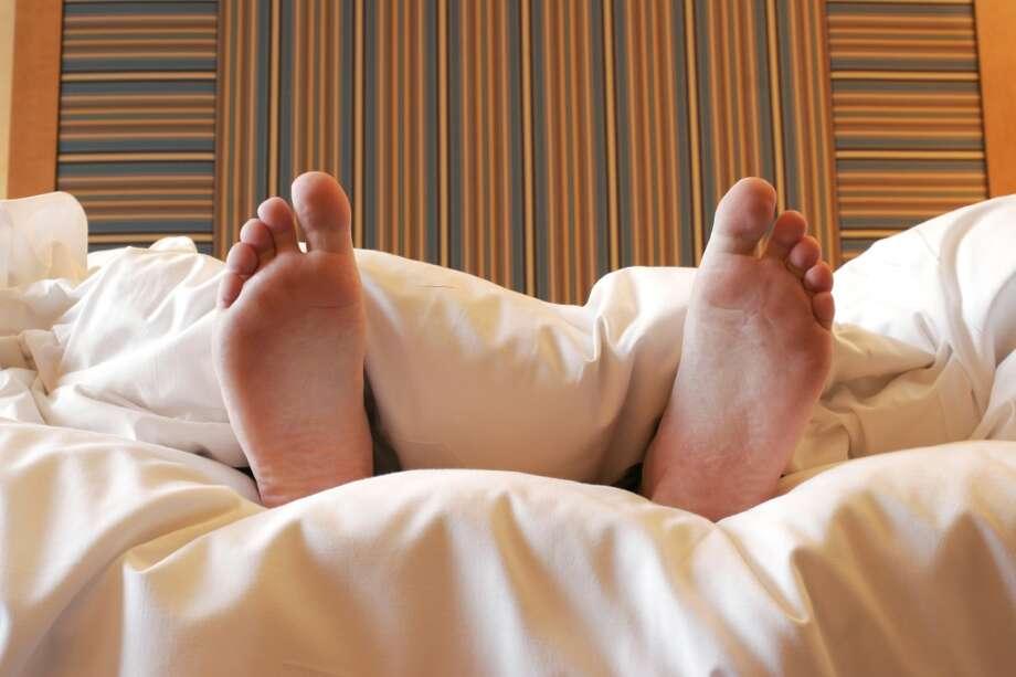 Stock photo of a man sleeping. Photo: Matt Kunz/iStockPhoto.com