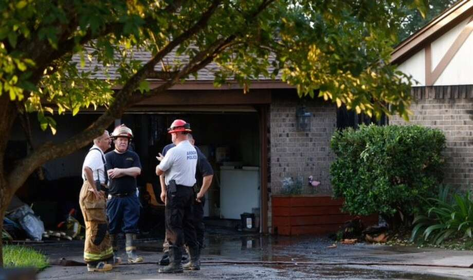 Two children and a man were injured in a fire at a home early Wednesday morning in La Porte. The blaze broke out about 3:45 a.m. at the house in the 3800 block of Teakwood near Pecan, according to the La Porte Police Department. Photo: Cody Duty