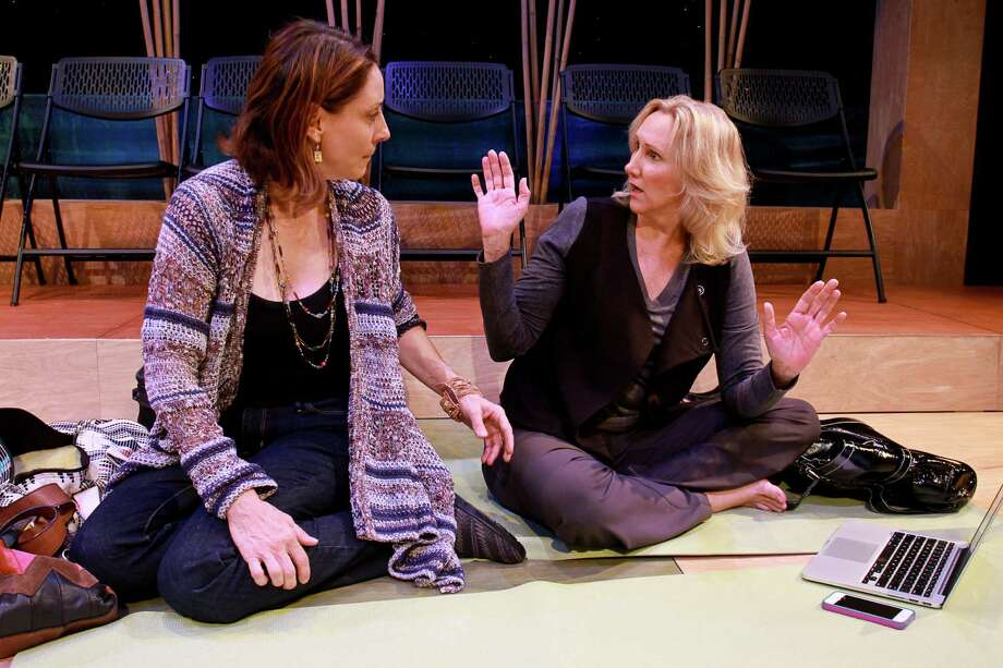 "Pamela Vogel, left, and Kim Tobin-Lehl star in Stark Naked Theatre's production of ""Small Mouth Sounds."" Photo: Gary Fountain, Freelance / Copyright 2015 by Gary Fountain"