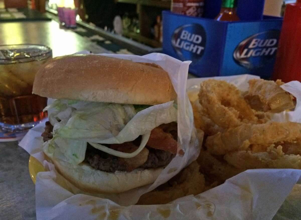 The Bacon Bacon Burger as served at Christian's Tailgate at 1012 Congress.
