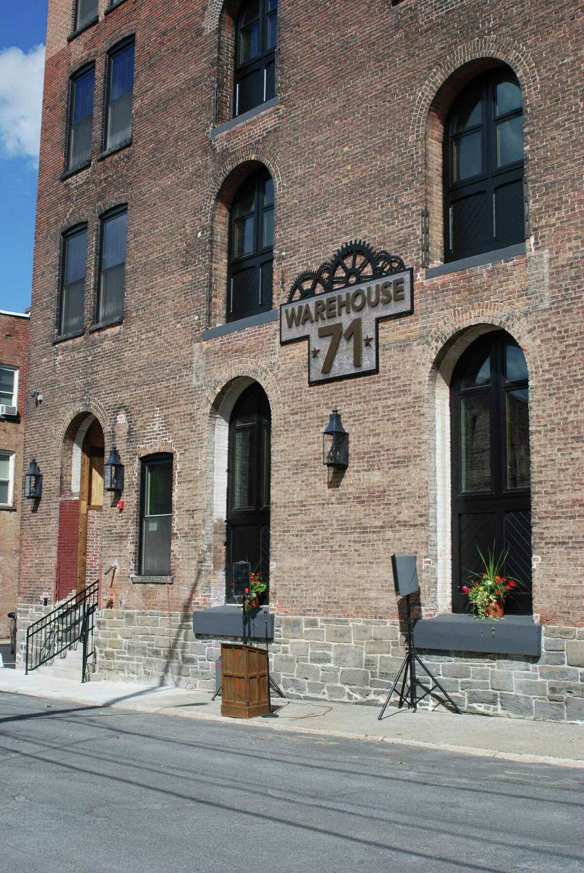 Warehouse 71 , luxury loft-style apartments from $1,220 to $1,720. 71 Canvass Street, Cohoes, NY 12047. Open Saturday, September 12, 2015 from 11:00 a.m. to 2:00 p.m. Call 518-640-4080 orvisit web site to learn more.