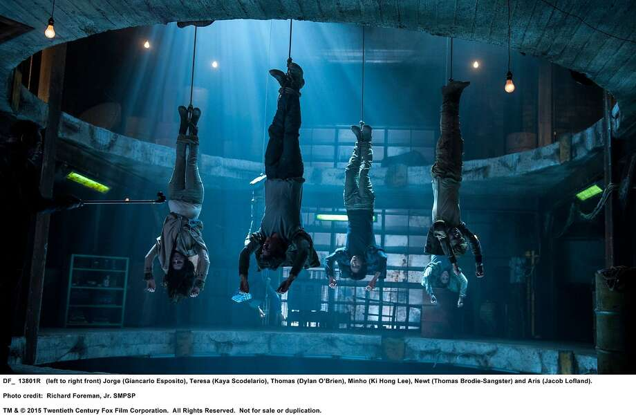 """Our heroes hang out in enemy territory in """"Maze Runner: The Scorch Trials,"""" which is short on interesting dialogue. Photo: Twentieth Century Fox"""
