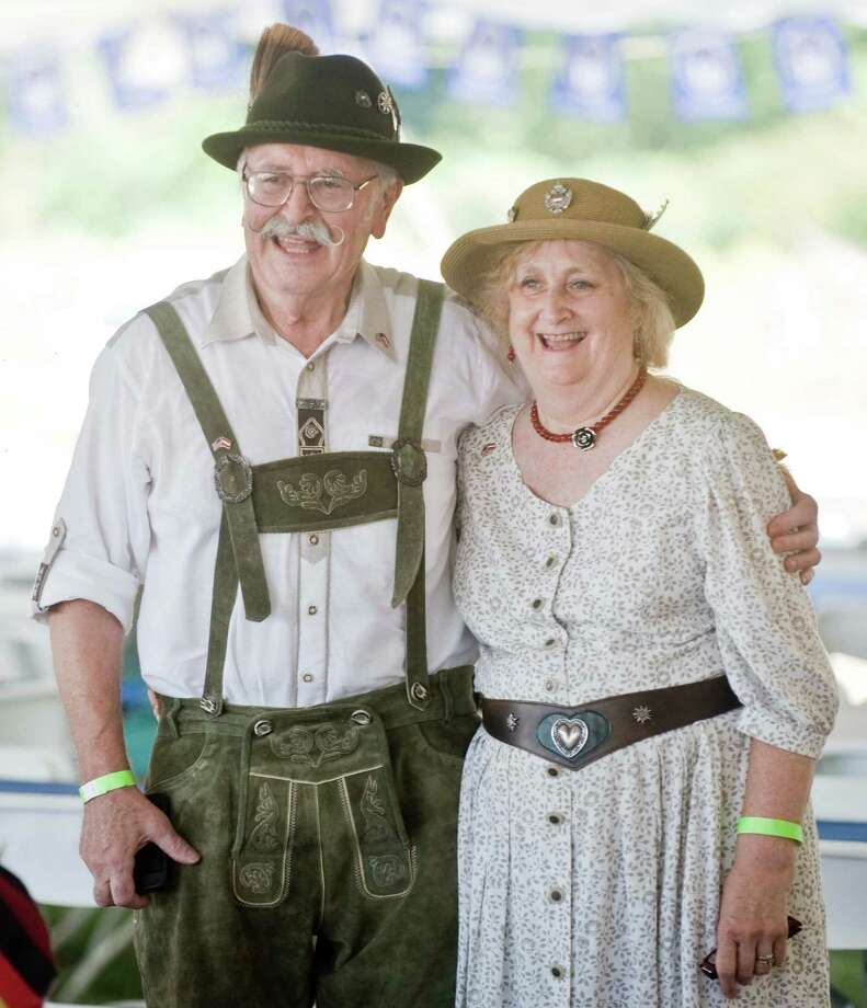 Bob and Maryanne Koeller enjoying the festivities at the Arion Singing Society's 17th annual Oktoberfest in New Milford. Sunday, Sept. 6, 2015 Photo: Scott Mullin / For The / The News-Times Freelance