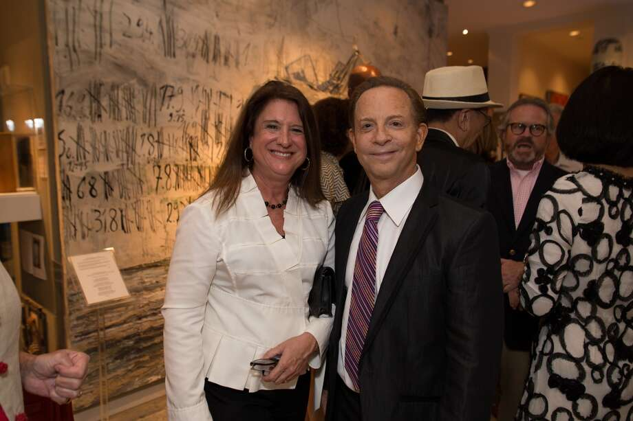 Deborah Colton and honoree and party host Lester Marks at the 2015 Houston Fine Art Fair.