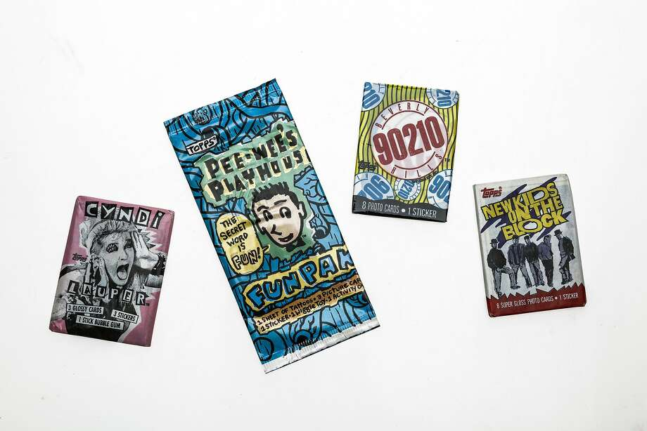 "The candy counter at St. Francis Fountain (2801 24th St.) sells old-school bubble gum cards featuring yesterday's pop culture favorites like Cyndi Lauper, the original ""Beverly Hills, 90210"" cast and ""Peewee's Playhouse."" Photo: Russell Yip, The Chronicle"