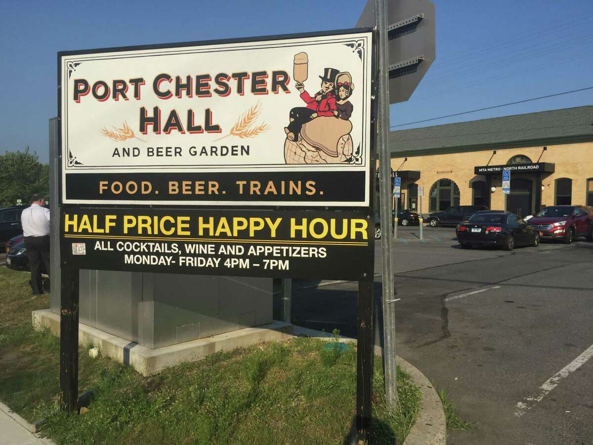 Port Chester Hall is part of a burgeoning happy hour scene in Port Chester, N.Y., just over the Greenwich border.
