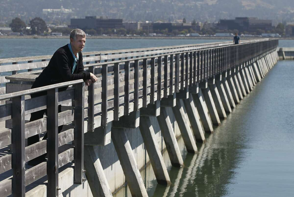 Jay Davis, senior scientist for the San Francisco Estuary Institute, views the bay from the fishing pier in Emeryville, Calif. on Wednesday, Sept. 9, 2015. The institute released a bi-annual report on its regional monitoring program for water quality in San Francisco Bay.