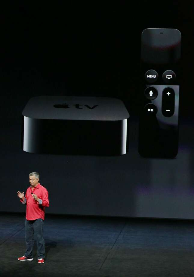 Eddy Cue, AppleÕs senior vice president of Internet Software and Services, discusses AppleTV during the Apple event at the Bill Graham Civic Auditorium on Wednesday, September 9, 2015 in San Francisco, Calif. Photo: Lea Suzuki, The Chronicle