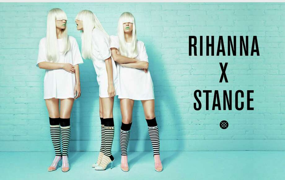 Rihanna's fall collection for Stance is comprised of 15 styles in a pastel color palette. Rihanna's had some crazy looks over the years. Keep clicking to see 27 of our faves.  Photo: Associated Press / Stance
