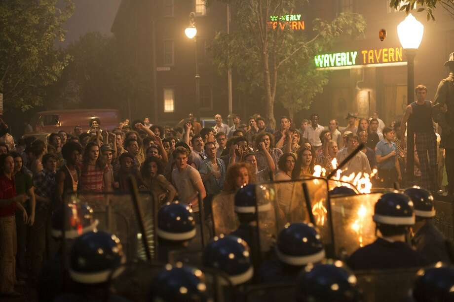 A scene from the 1969 Stonewall riots. Roland Emmerich's dramatization of the historical LGBT event, scripted by Jon Robin Baitz, opens Friday, September 25, at Bay Area theaters.  Photo by Philippe BossŽ / Courtesy of Roadside Attractions Photo: Philippe BossŽ / Courtesy Of Roa